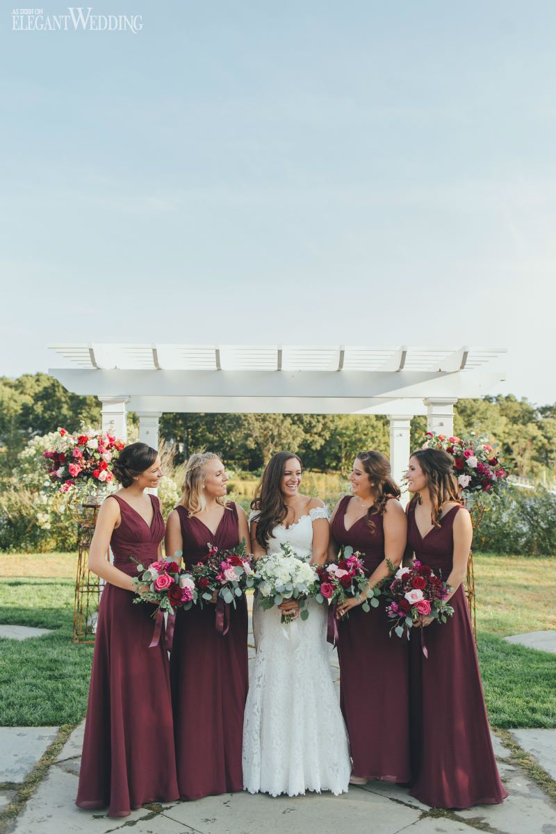 fall bridal party pictures%0A Burgundy Wedding Ideas With Rustic Cues   Elegant Wedding