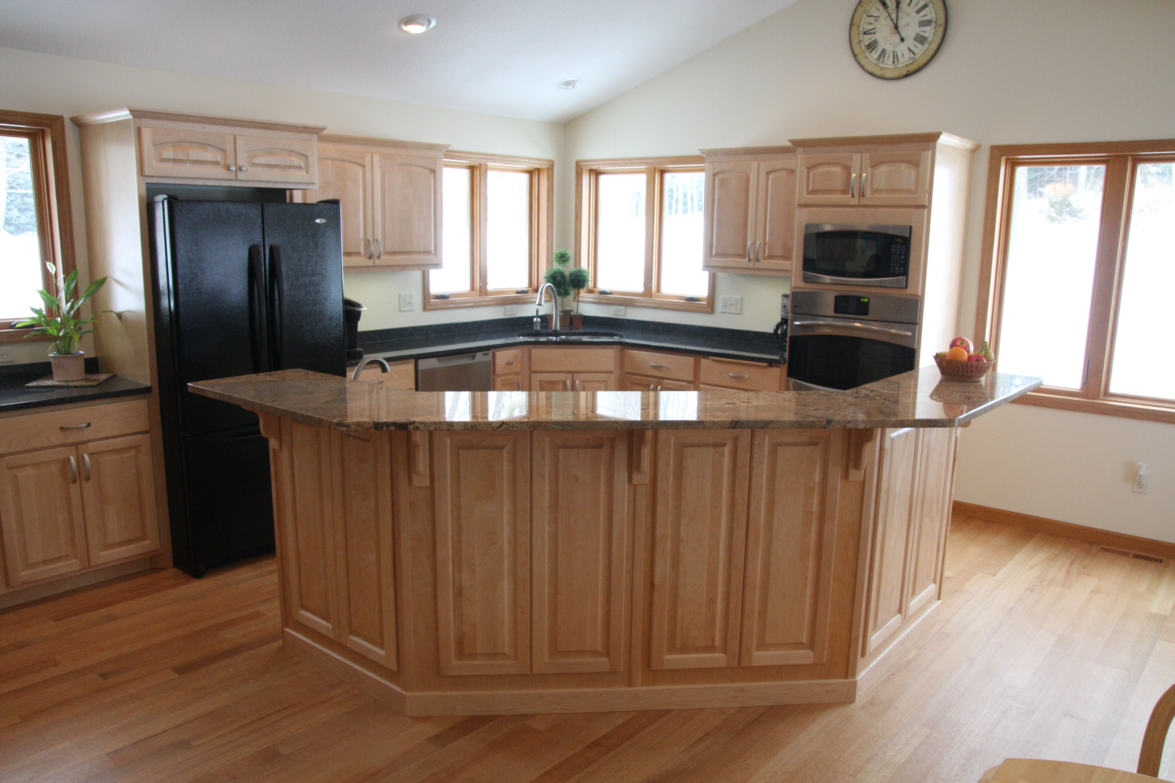 Updated open kitchen floor plan Updated open