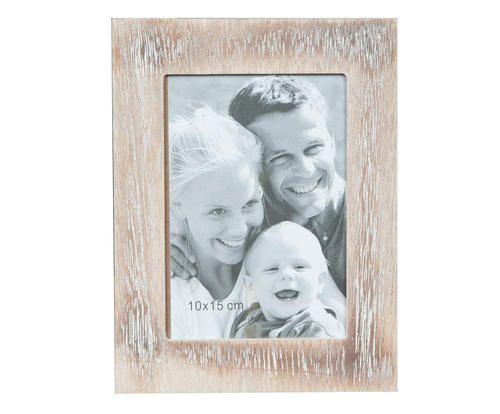 Portafoto in legno grigio/bianco 15x20x1 cm Colore grigio bianco  ad Euro 12.00 in #Crido consulting srl #Home decoraccessories deco