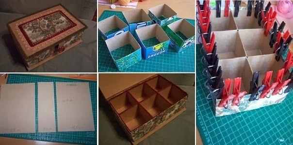 GOODIY DIY Cardboard Organizer Box
