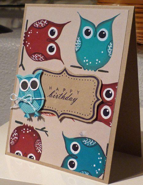 owl birthday adorable  owl birthday owl punch cards