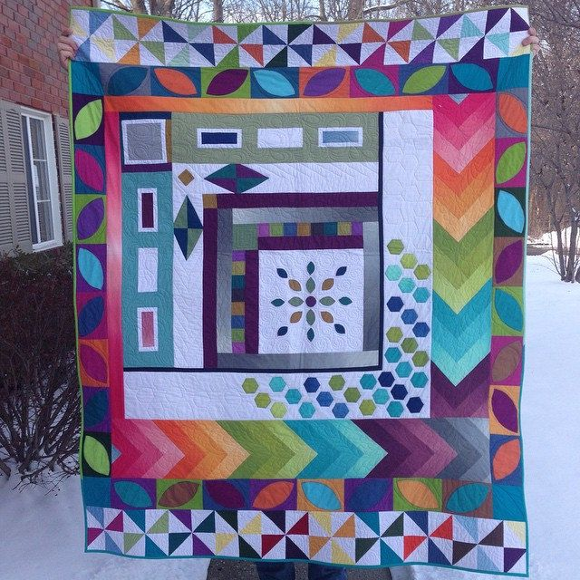 Here it is quilted, bound, labeled, and hanging sleeve attached ... : indiana heritage quilt show - Adamdwight.com