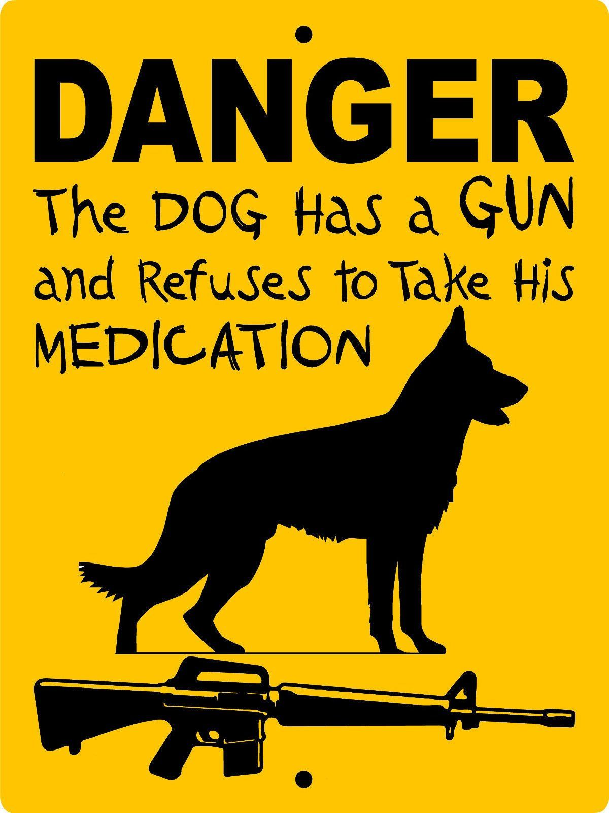 German Shepherd Dog Sign Dangerssil3 Dog Signs German Shepherd