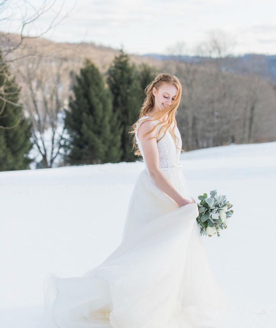 Twirling in the snow because our new collection has been added to