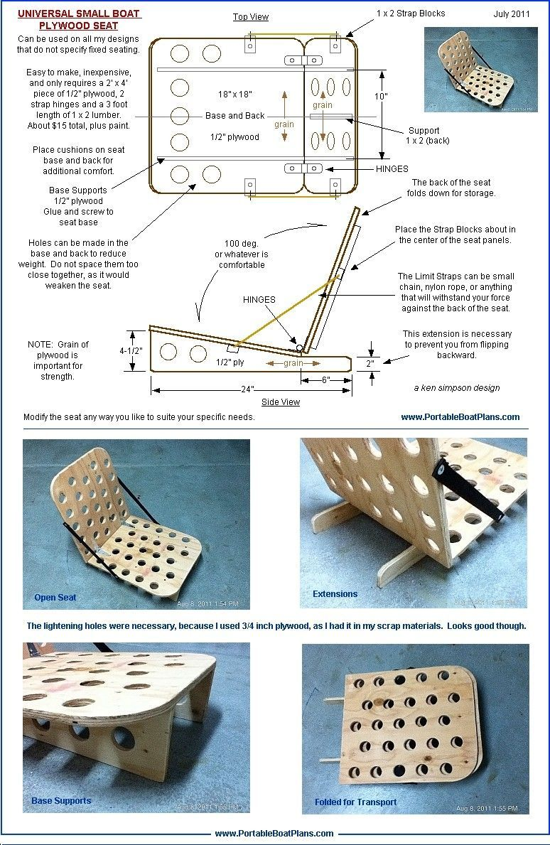 Free boat chair plans | Boat building plans, Boat, Plywood ...