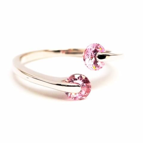 ON SALE - Double Glimmer 2 Stone Ring - Choose Your Color