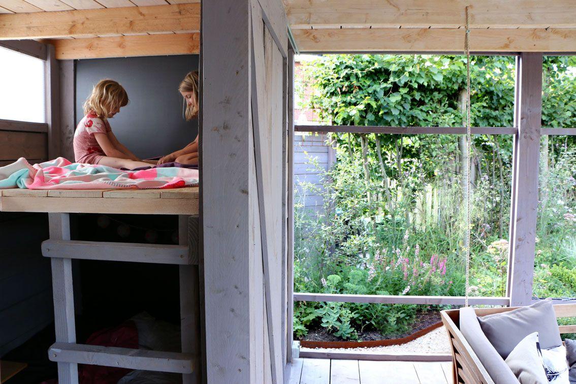 Garden and pilot TOOP tuinhuisje in Wilp location: Wilp, NL design: Studio TOOP built: spring 2014, TOOP tuinhuisjes, Weldam Groenprojecten, Van Bert (Bert Jan Siebesma) en OSH Hoveniers photo: Joanne Schweitzer, July 2014