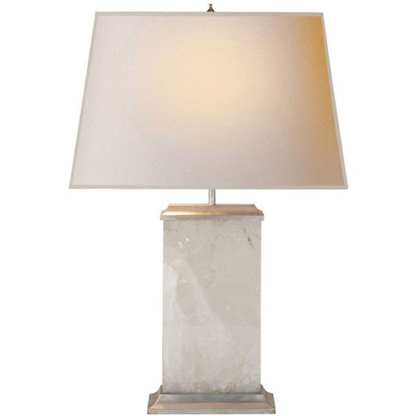 Pull Chain Table Lamp Crescent Quartz Table Lamp Silver Leaf 1800 Cad ❤ Liked On