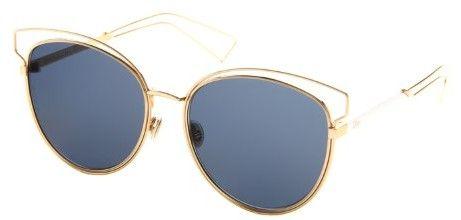 Christian Dior Damen Sonnenbrille DIORSIDERAL2 KU J9H, Gold (Rose Gold White/Blue Avio), 56
