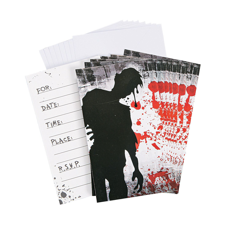 Zombie Party Invitations - OrientalTrading.com   ZomBEE ParTAY ...