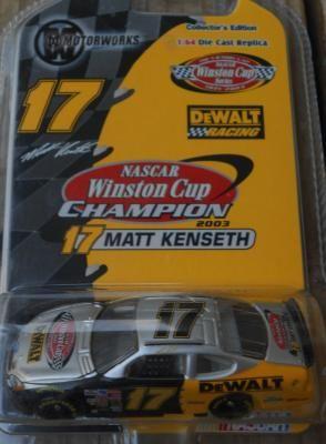 NASCAR MOTORWORKS 2003 NASCAR WINSTON CUP CHAMPION #17 MATT KENSETH 1:64 CAR FREE SHIPPING!!