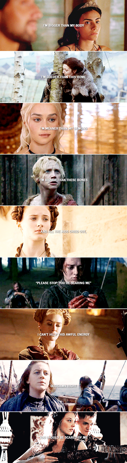 Woman? Is that meant to insult me? #asoiaf