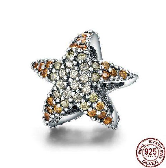 6382a4799 Ocean Star Starfish 925 Sterling Silver Charm fit Pandora Bracelet ,Pandora  Charm, First Anniversary