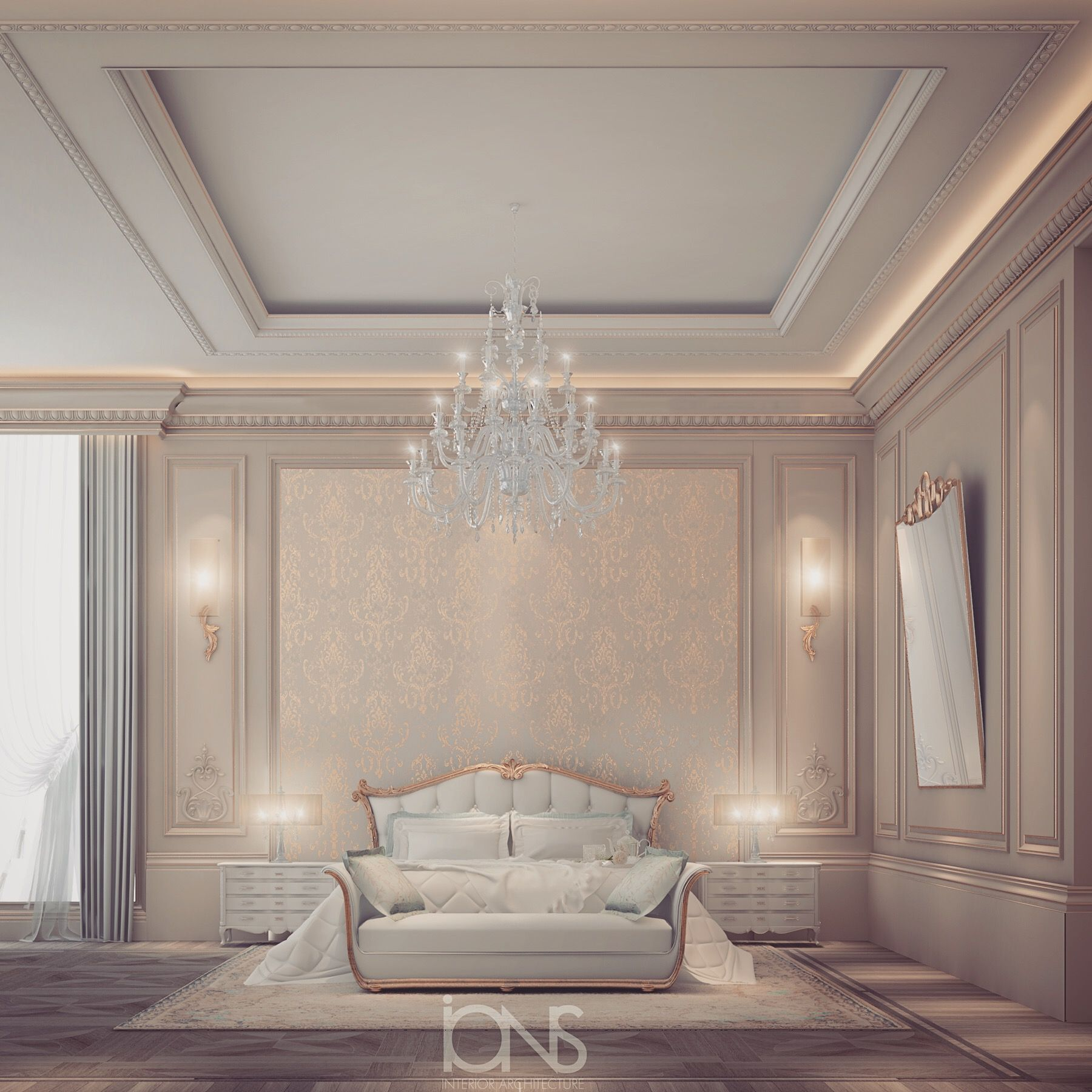 Bedroom design Qatar private palace Bedroom design