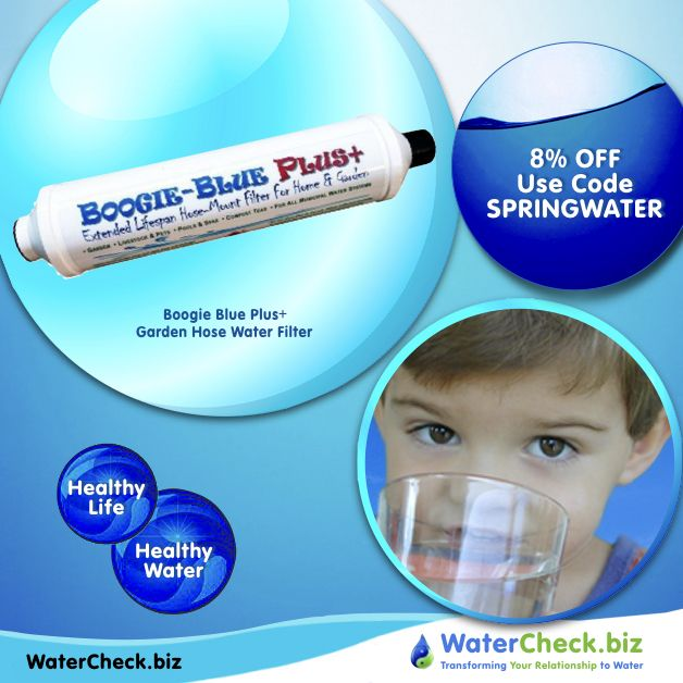 Bring The Goodness Of Mother Nature Back To Your Garden S Water With Our Boogie Blue Plus Garden Hose Water Filter Healthy Water Water Filter Garden Hose