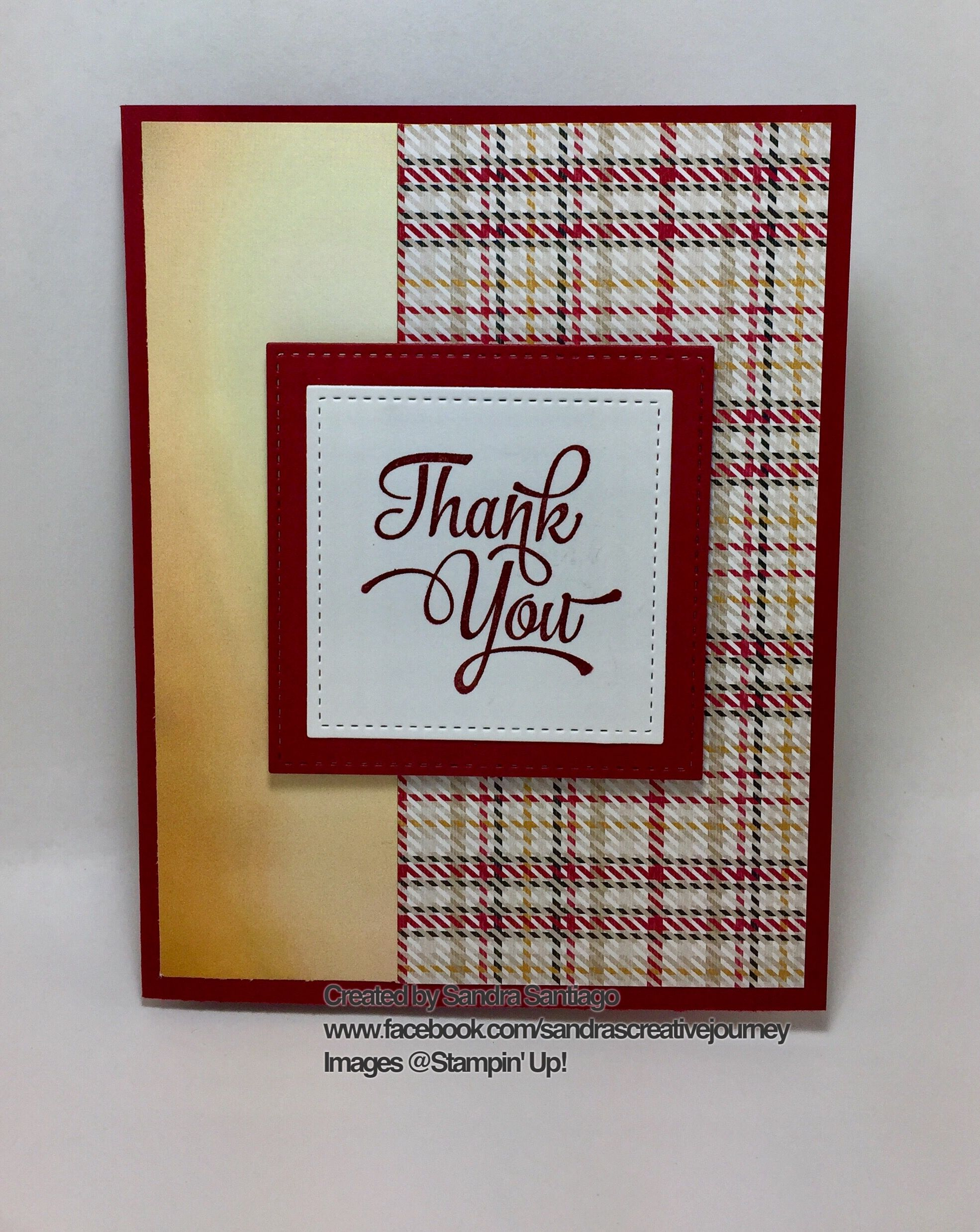 Thank You Stampin Up One Big Meaning Stamp Set Warmth Cheer And