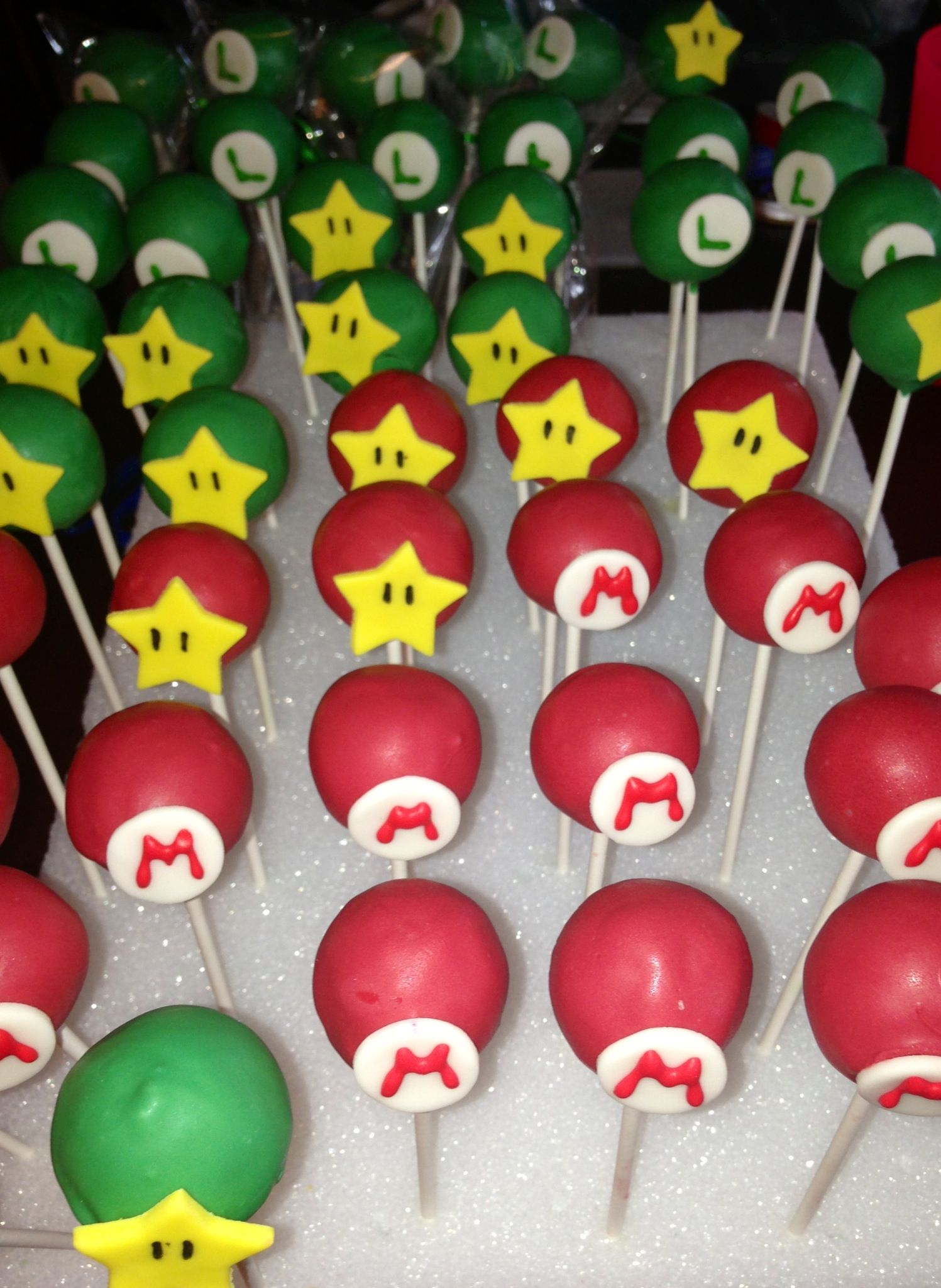 Mario Bros Theme Cakepops Mario Birthday Party Super Mario