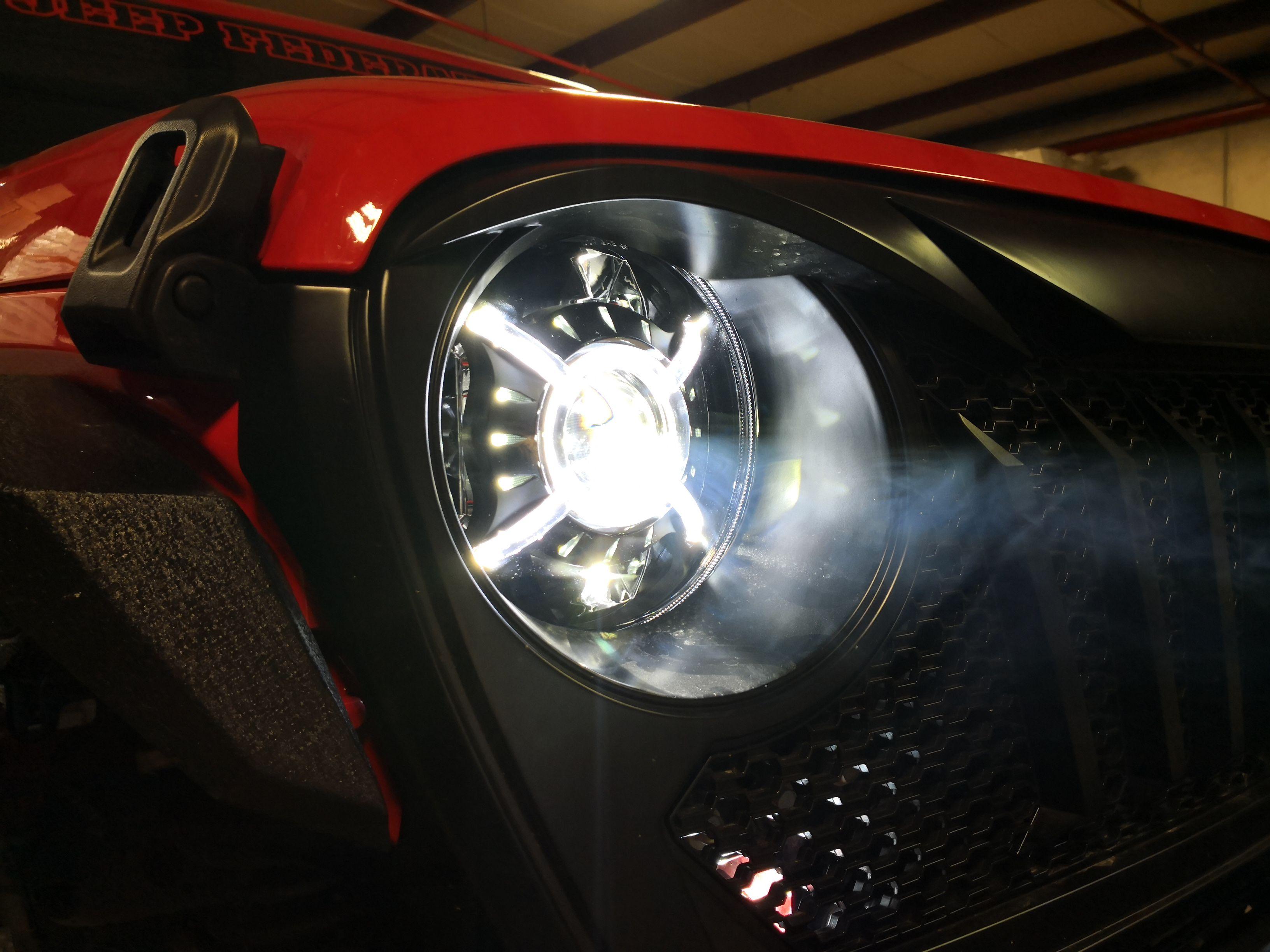 Cyclone Led Headlights For Wrangler Jl Gladiator 2018 Custom Headlights Wrangler Jl Led Headlights