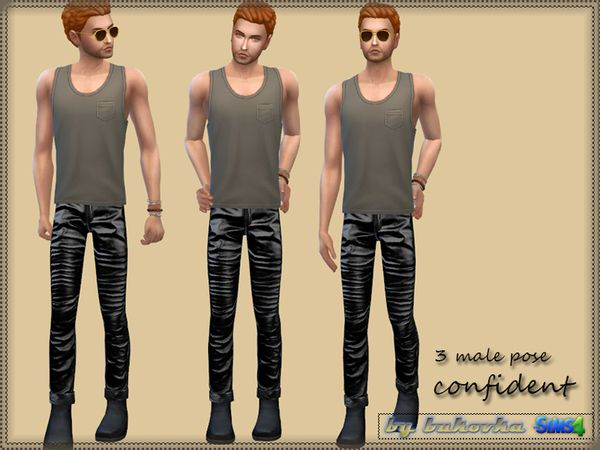 Sims 4 Updates: TSR - Poses : Male Pose Confident by bukovka, Custom Content Download!