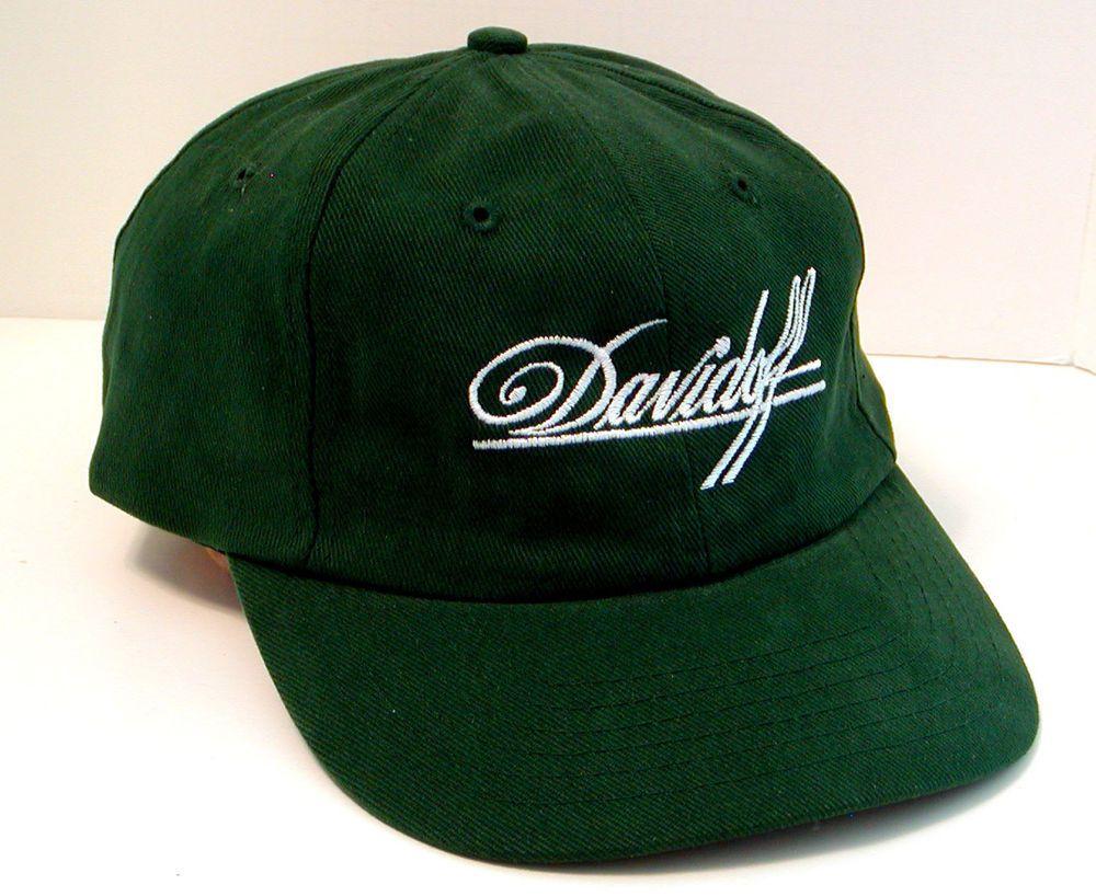 New green davidoff baseball caphat cigars adjustable