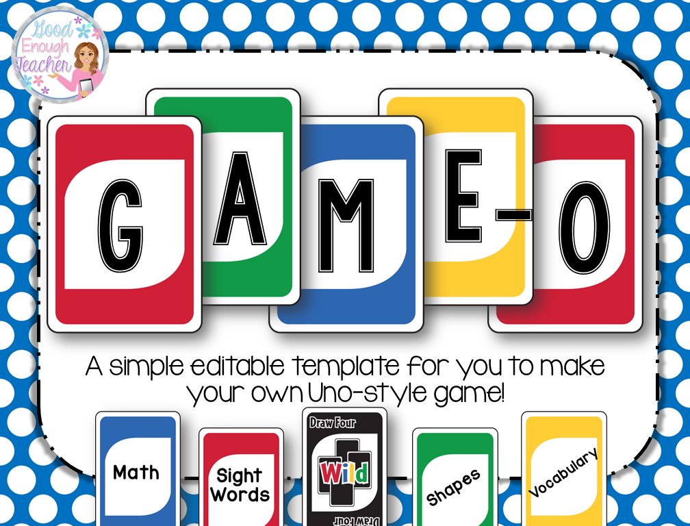 game o create your own game fully editable template primary rh pinterest com