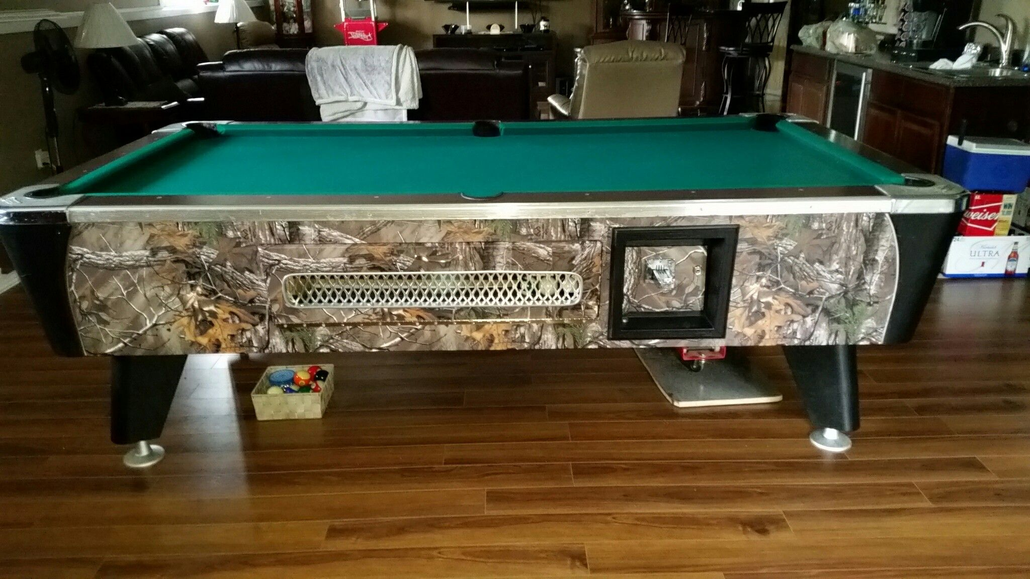 Done With Made Up Door In Place I Saved The Old Chrome From Old - Pool table retailers near me