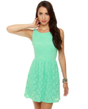 Birthday Party Mint Green Lace Dress