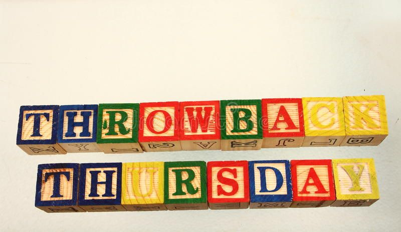 The term throwback thursday. Displayed visually on a white background using colo ,
