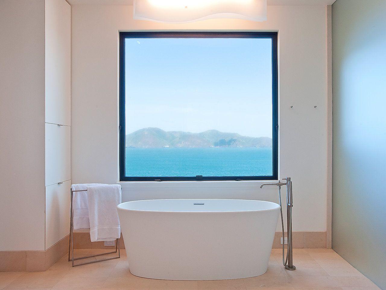 view bathroom ideas%0A Sunny Interior Home Design in Sea Cliff