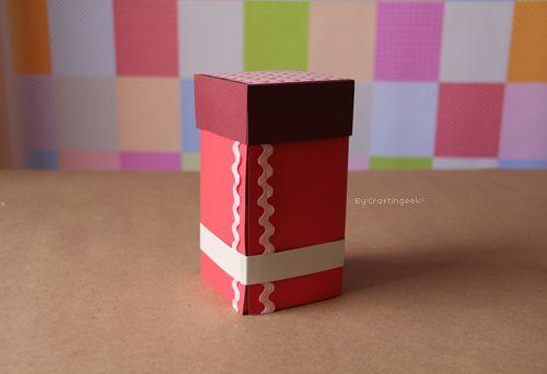 Caja con Cajones . Manualidad para Dia del amor y la amistad