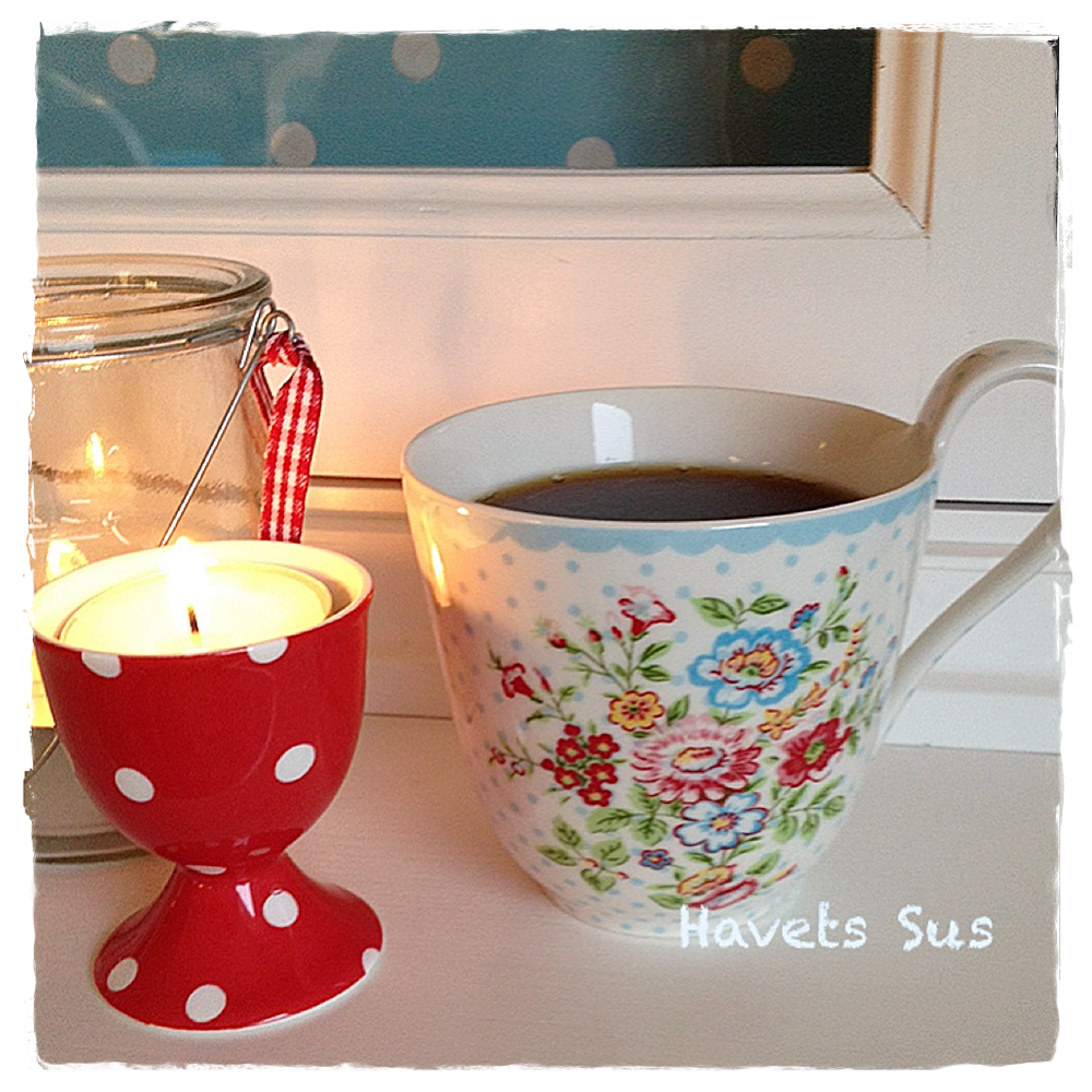 Havets Sus, Coffee, Coffeetime, Coffeecup, Greengate, light, my kitchen