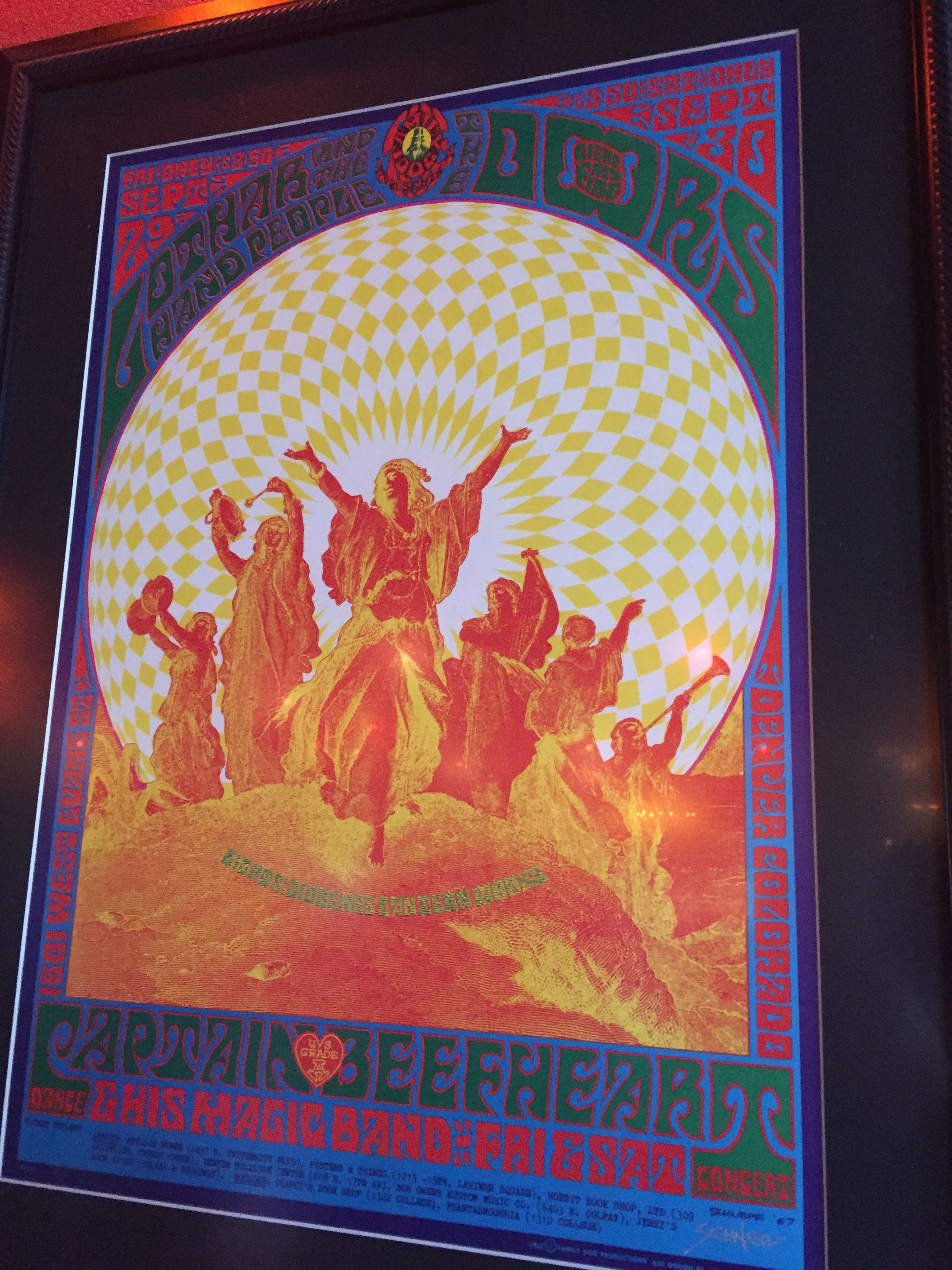 Denver Colorado 1967 concert poster The Doors