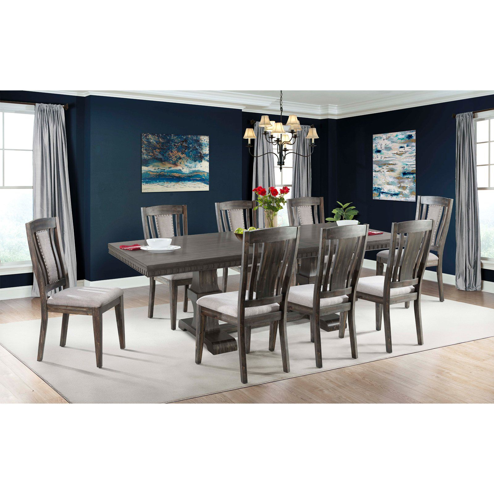 picket house furnishings steele 9 piece extension dining table set rh pinterest com