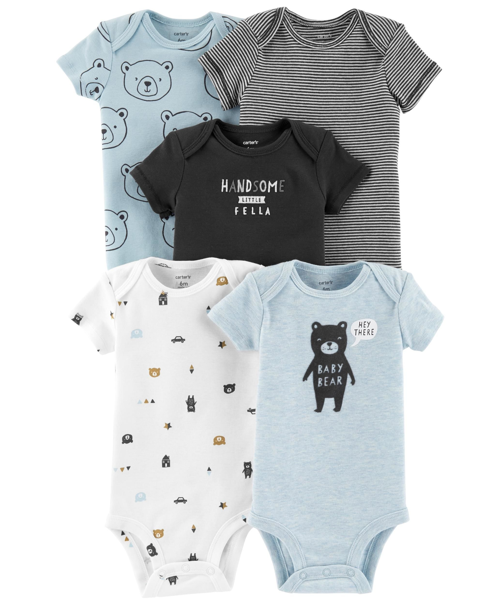 c1514fc1a405a Baby Boy - 5-Pack Bear Original Bodysuits -  15.60