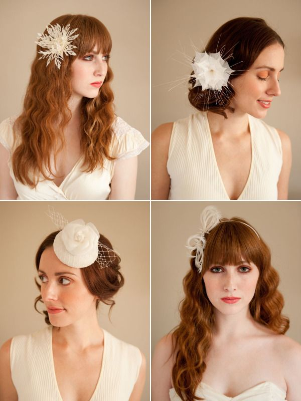 Fascinators and Headpieces by Emilliner - Style Me Pretty ...