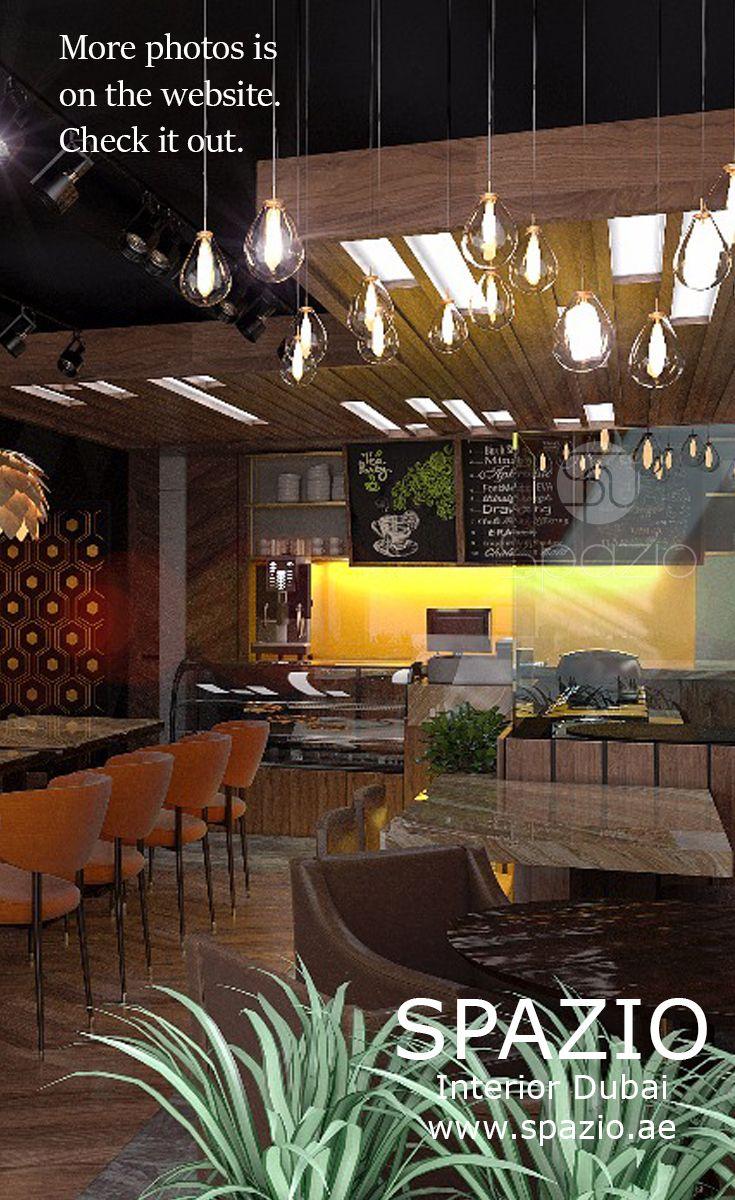 Cafe decor and interior design in small