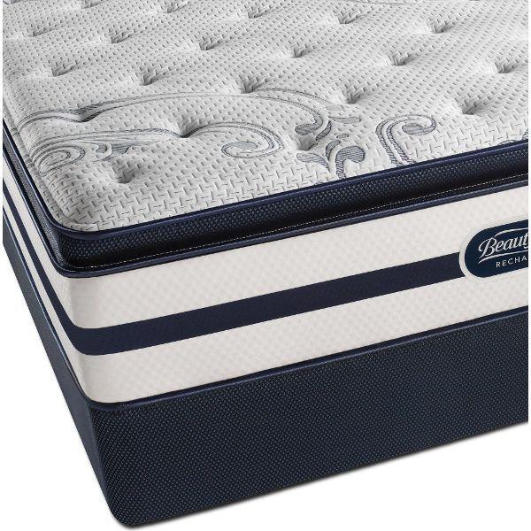 Queen Sleep Set Beautyrest Helen Plush Pillow Top Plush