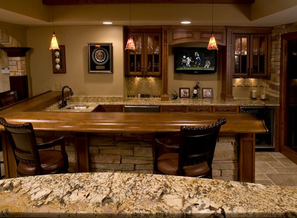 cool basement bar ideas looking bar that has beautiful pendant rh pinterest com