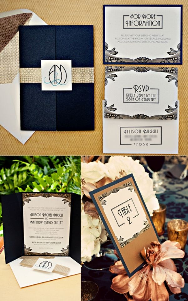 vintage wedding invitation text%0A Art deco invitations  want something really similar to this