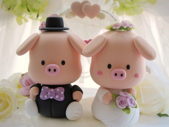 Normally pigs are the grossest but I guess not when they're getting married!