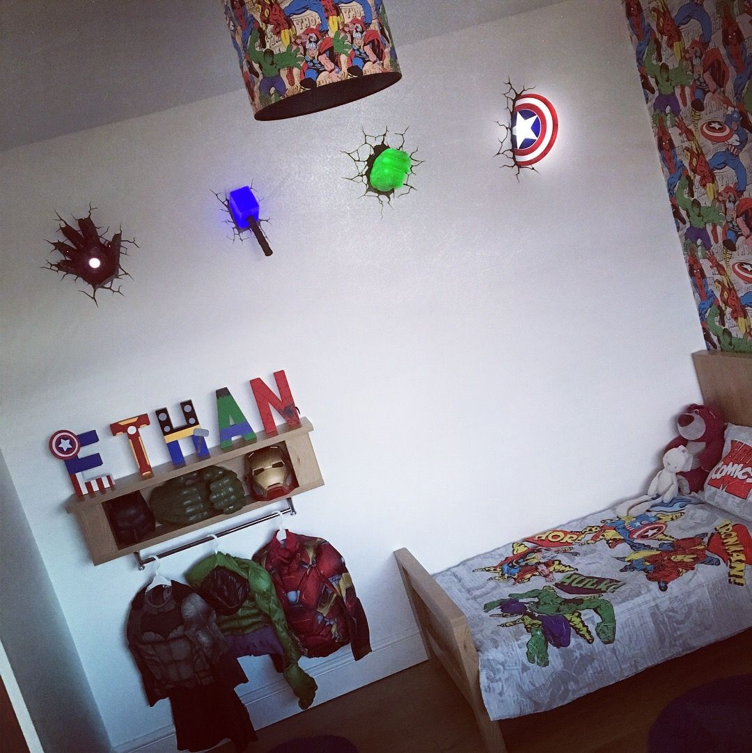 Avengers / marvel superhero comic inspired room for my