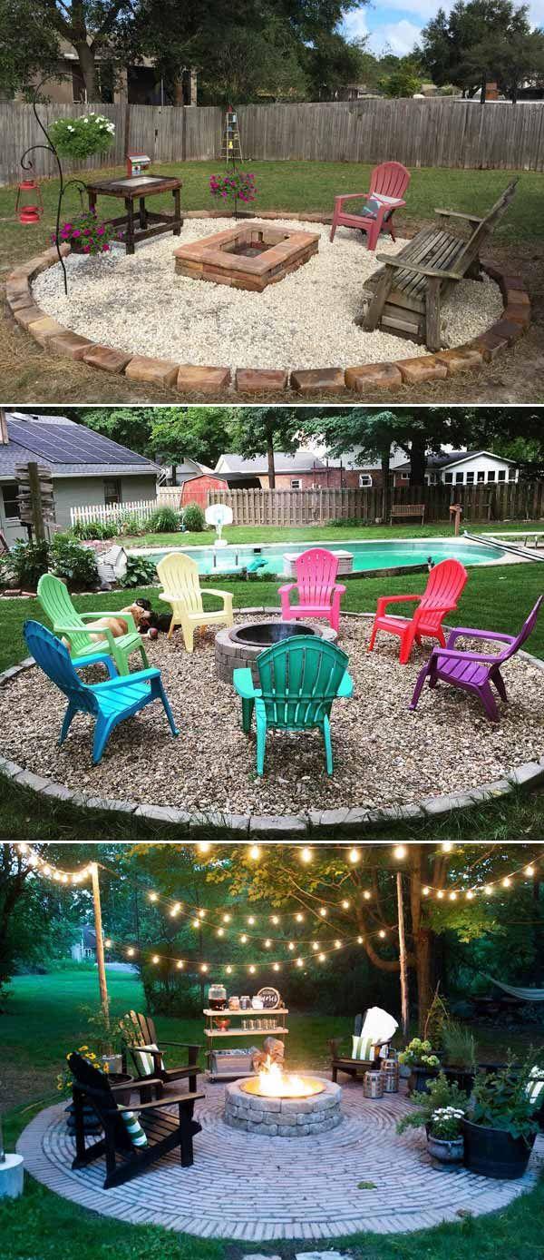 29 Awesome Diy Projects To Make Backyard And Patio More Fun Diy Backyard Landscaping Diy Patio Backyard Patio Designs