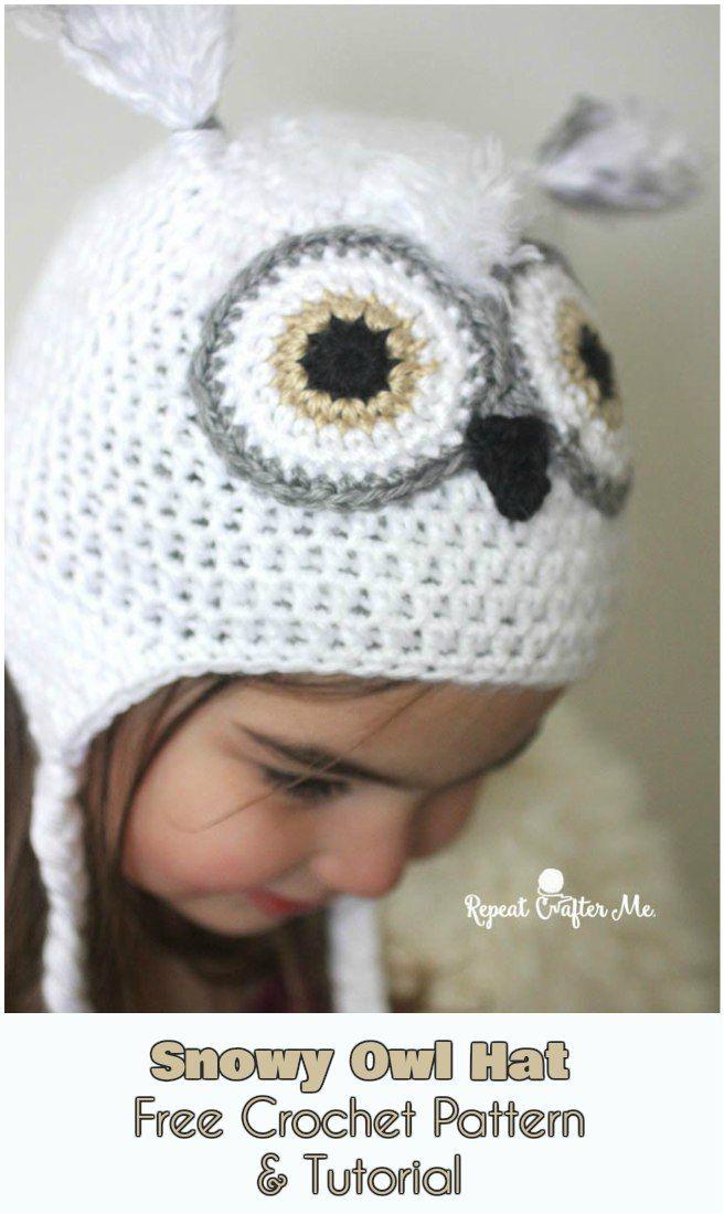 Snowy Owl Hat [Free Crochet Pattern & Tutorial] | Bebe