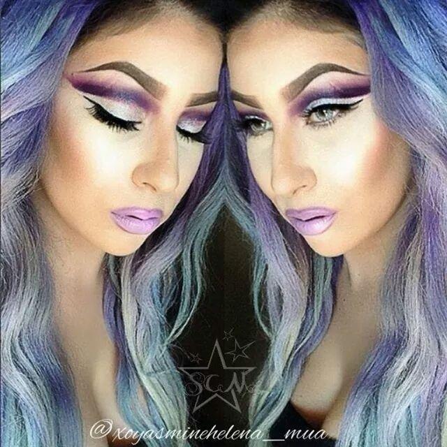 Look created using eyeshadows WhiteLightning and Impulsive. www.starcrushedminerals.com
