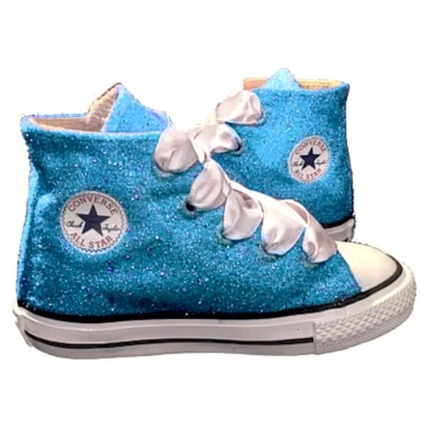 007eb330b030 TAKE $10 OFF CODE: SPARKLE10 www,glittershoeco.com Girls Sparkly Converse  Sneakers Shoes Turquoise Glitter