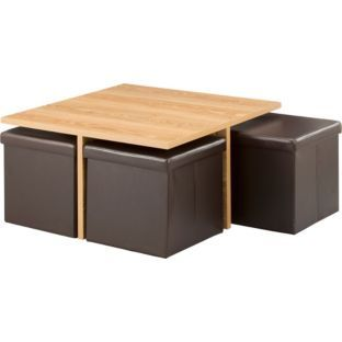 buy ohio ottoman coffee table chocolate and oak effect at argos co rh pinterest com
