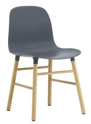 Chaise Form / Pied chêne Bleu / chêne - Normann Copenhagen ...