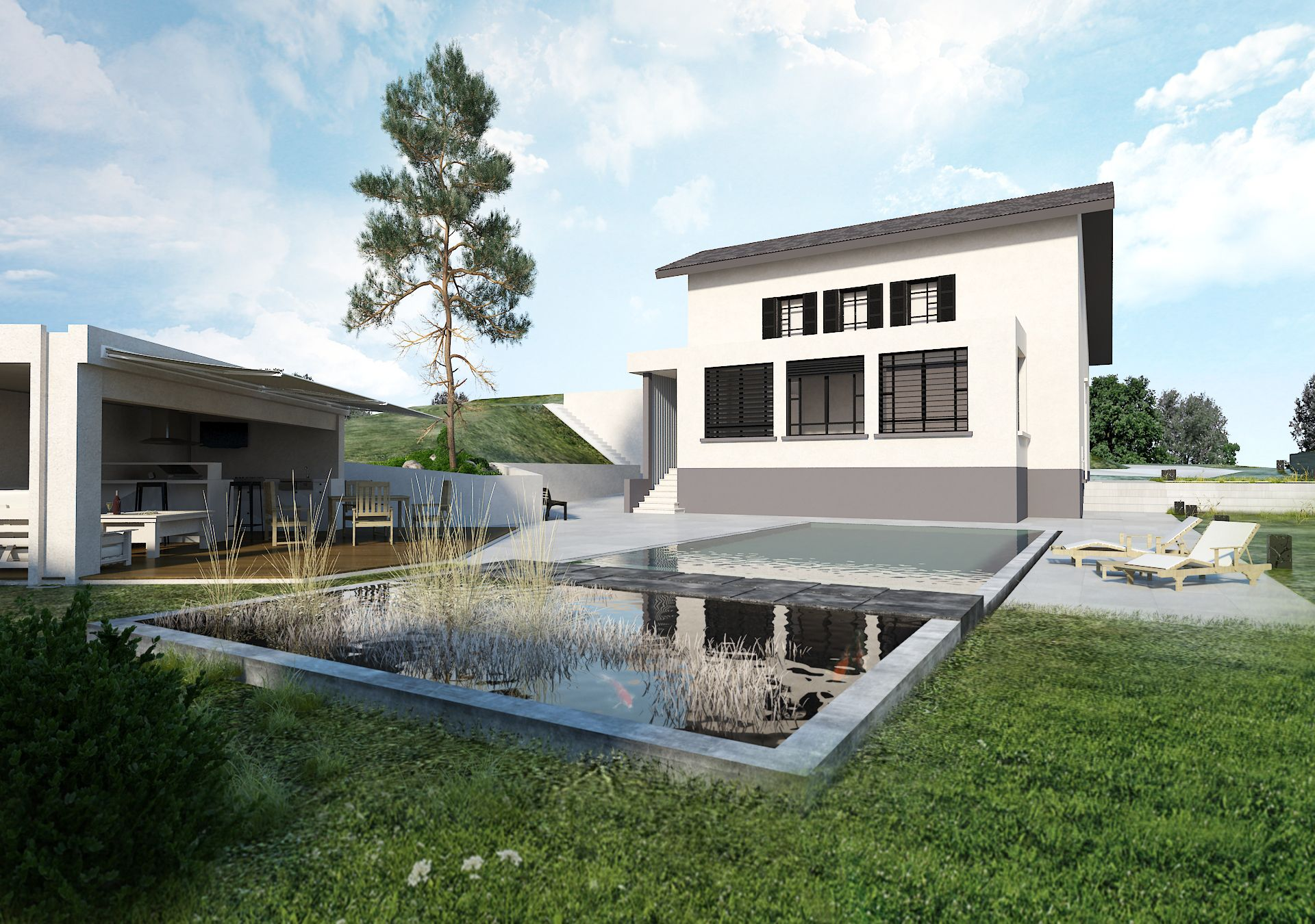 Exterieur par architecture d 39 int rieur for Agencement piscine