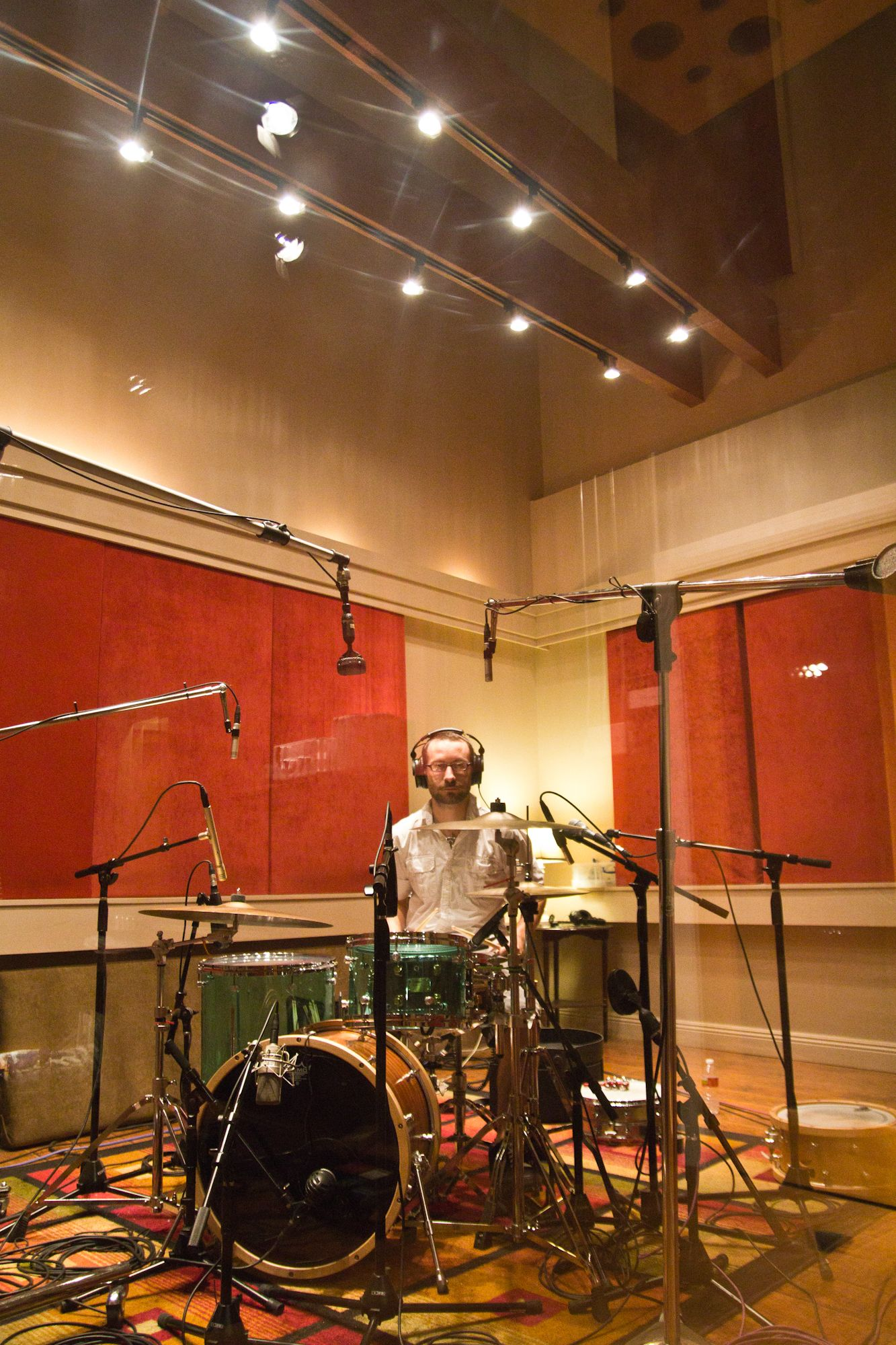 The Drum Room At The Music Shed Recording Studio In New