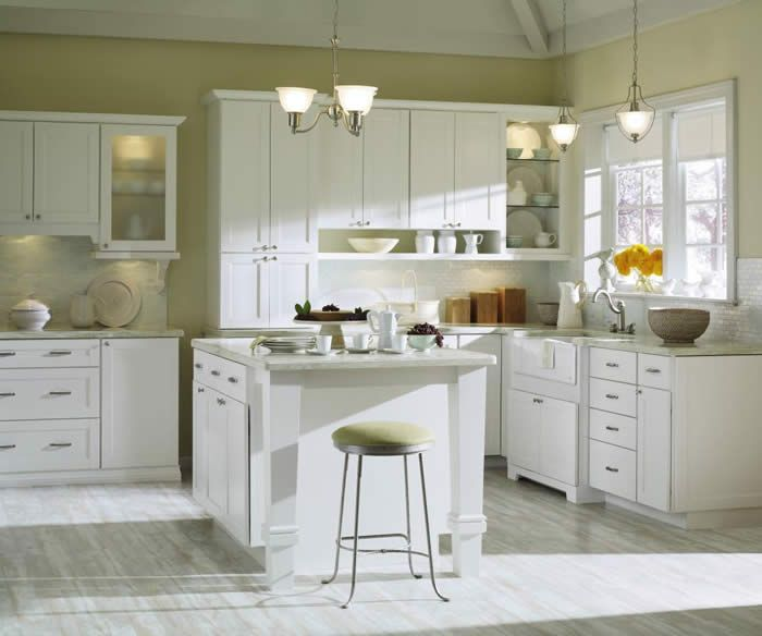 Classic style kemper 39 echo 39 cabinets in teague door style for Alabaster kitchen cabinets